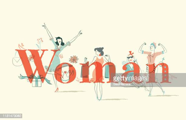 woman issues - mujeres jóvenes stock illustrations