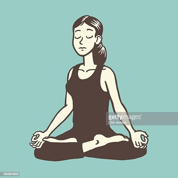 Frau Meditieren