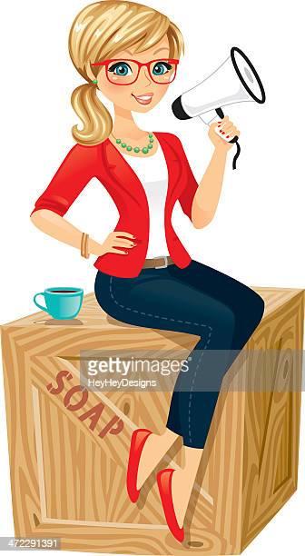 Woman On A Soap Box