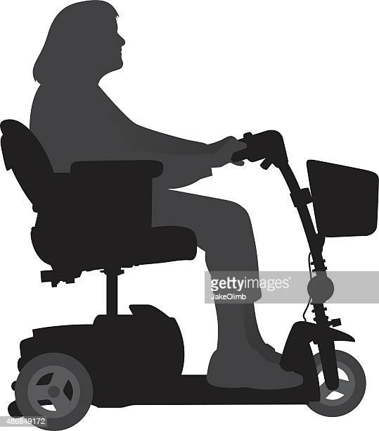 Woman on Motorized Scooter