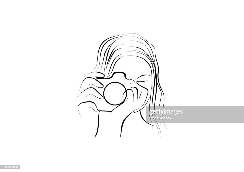 woman photography illustration