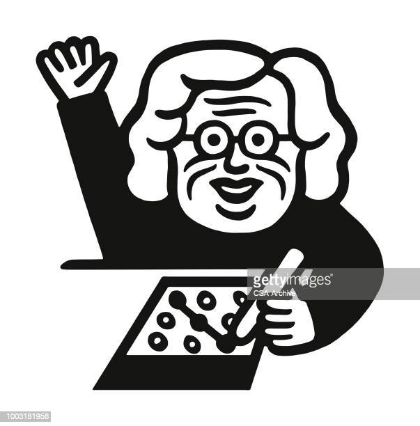 woman playing bingo - mature adult stock illustrations