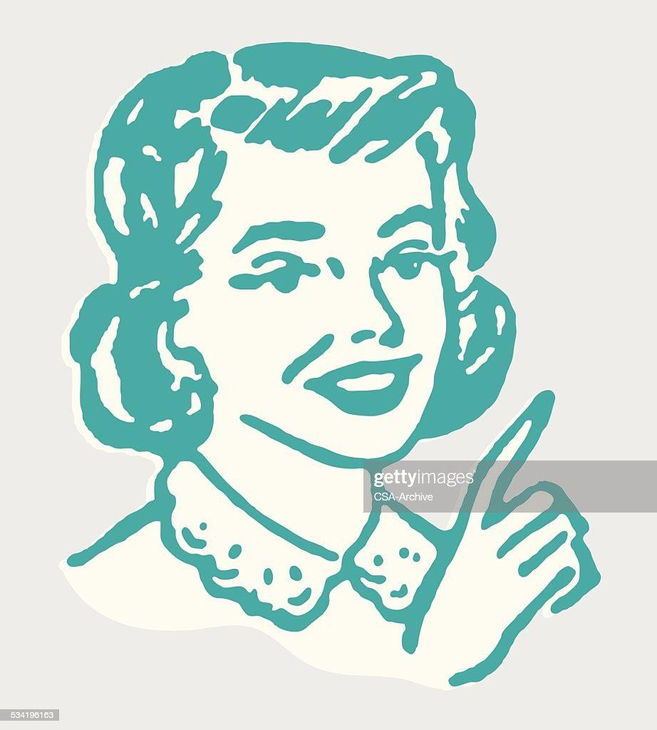 Woman Pointing : stock illustration