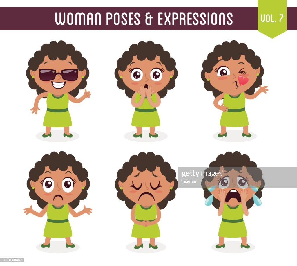 Woman poses and expressions (Vol. 7 / 8)