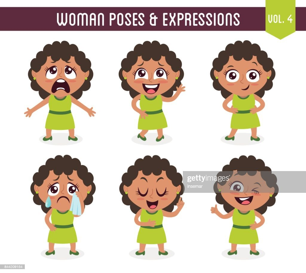 Woman poses and expressions (Vol. 4 / 8)