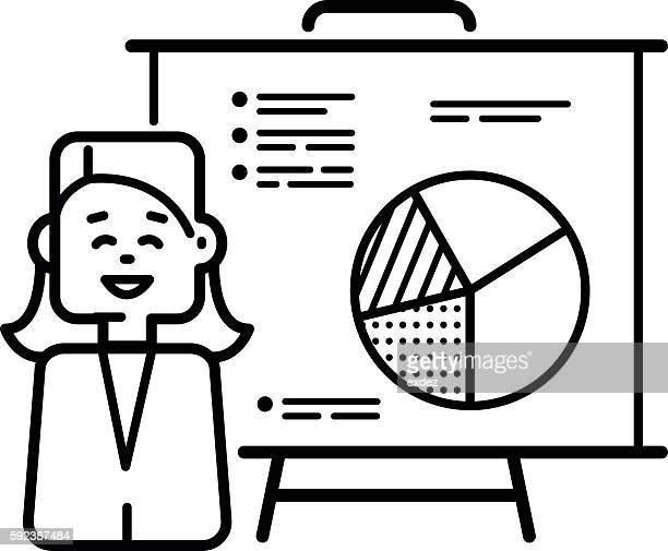 Woman professional presenting