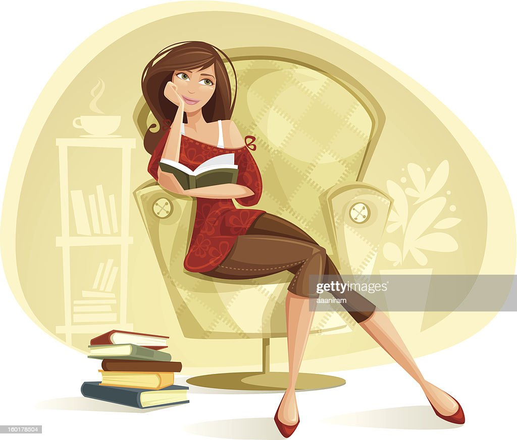 Woman Reading : stock illustration