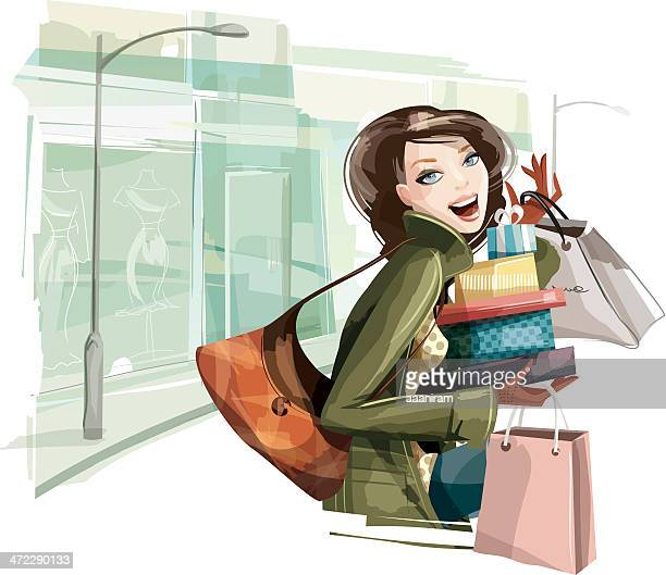 Woman Shopping Presents
