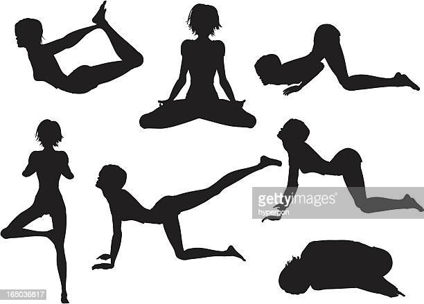 Sitting Indian Style Silhouette Stock Pictures Royalty Free