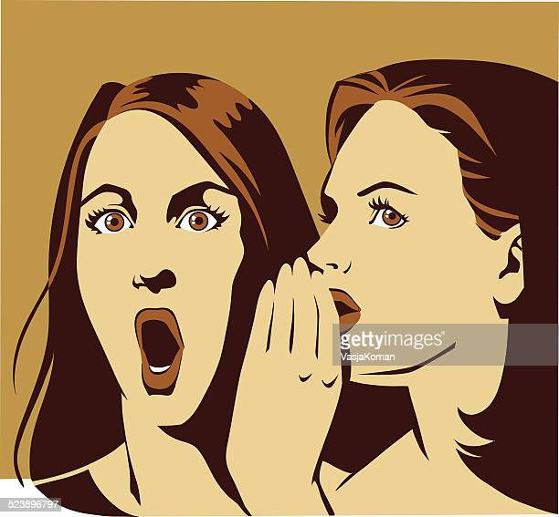 woman surprised hearing the big news - teasing stock illustrations, clip art, cartoons, & icons