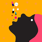Woman takes many pills