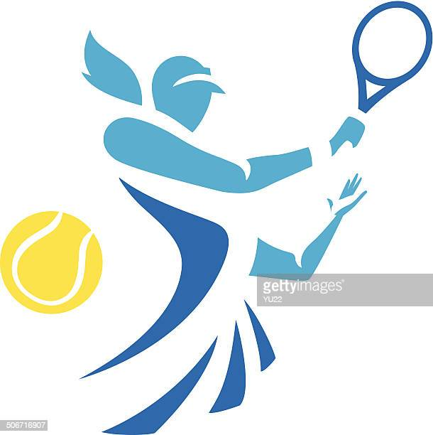 woman tennis - tennis stock illustrations