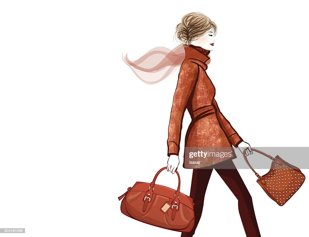 Woman traveling with bag