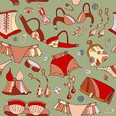 Woman underwear seamless pattern