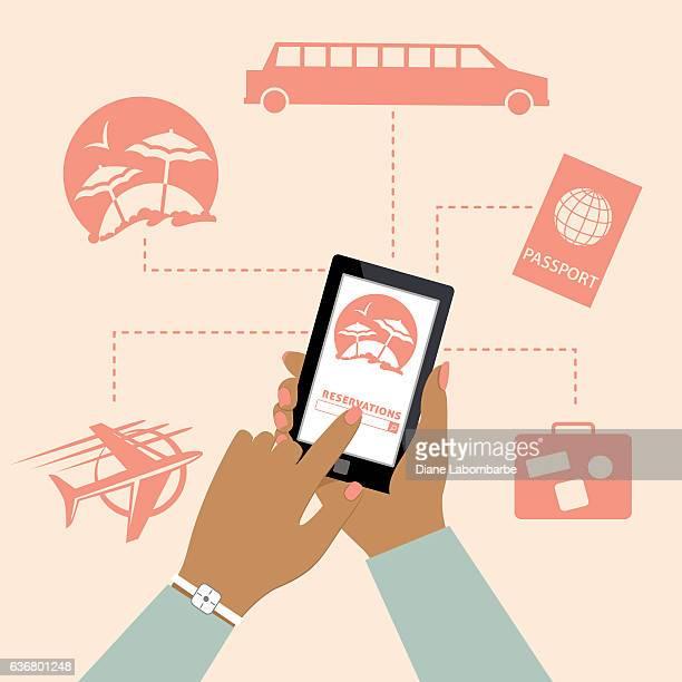 Woman Using Online Apps For Wedding Arrangements