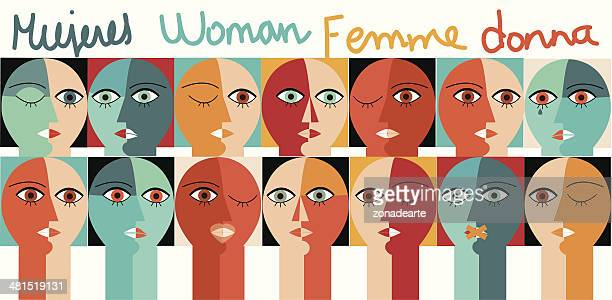 woman - human rights stock illustrations