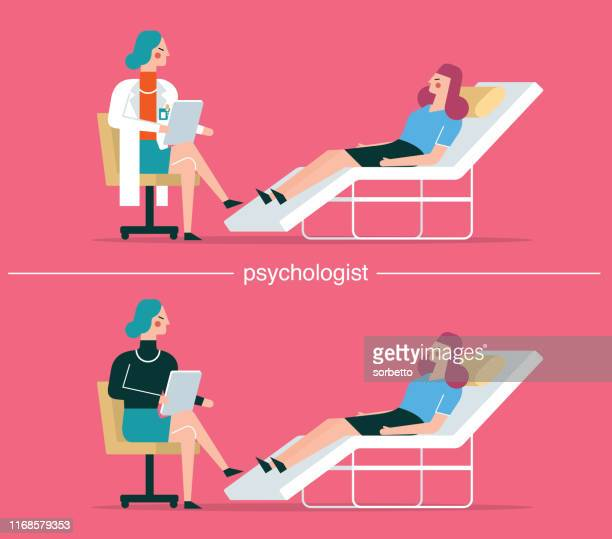 A woman visiting a psychologist