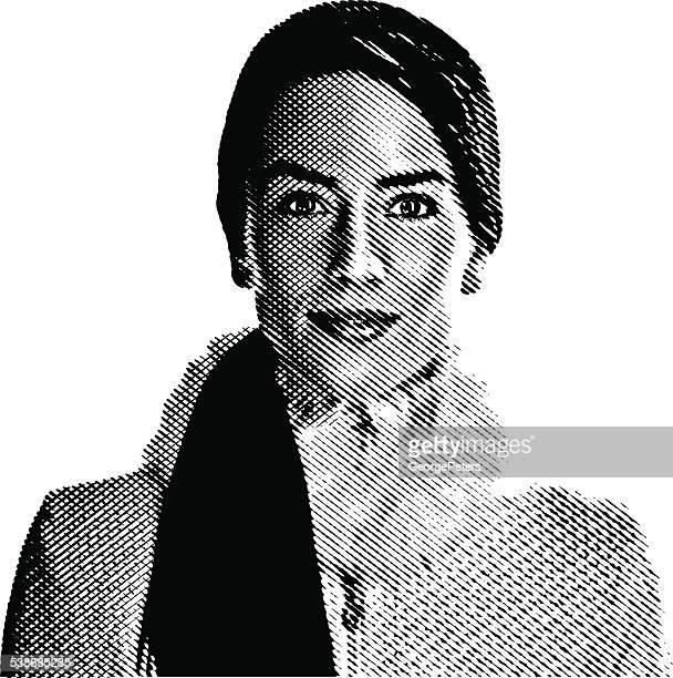ilustraciones, imágenes clip art, dibujos animados e iconos de stock de mujer usando abrigo de invierno - clip art