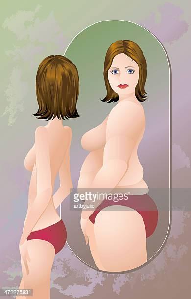 Mulher com anorexia ou bulimia