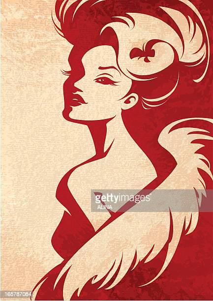 ilustrações de stock, clip art, desenhos animados e ícones de mulher com boa - mulher fatal