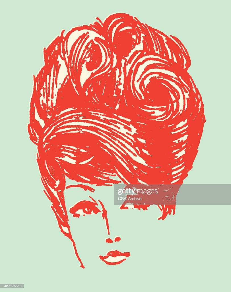 Woman with Hair Styled : stock illustration