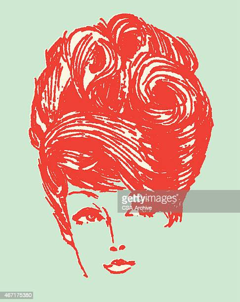 Woman with Hair Styled
