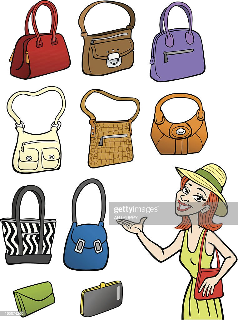 Woman With Handbags