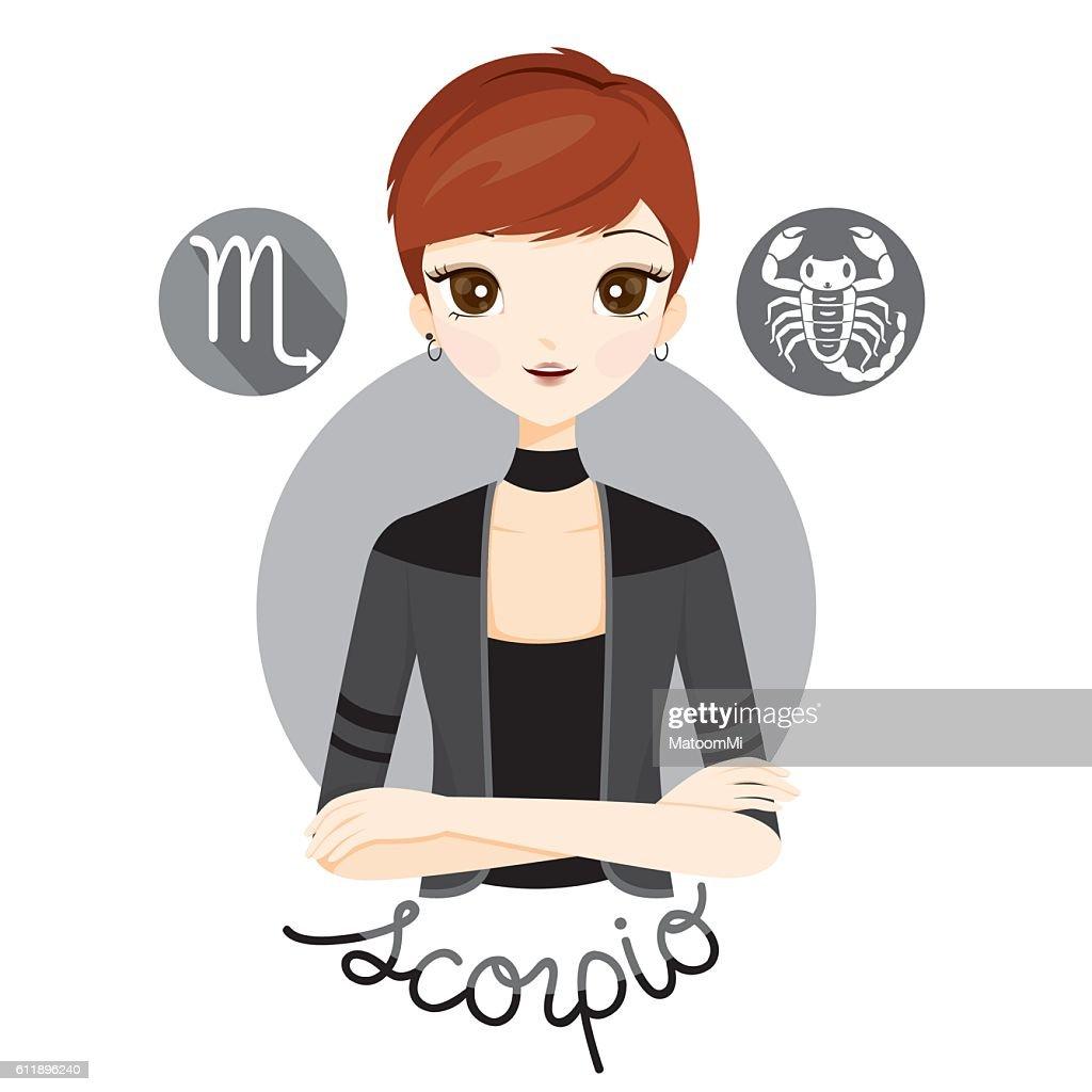 Woman With Scorpio Zodiac Sign