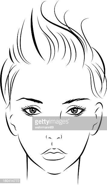 Short Hair Stock Illustrations And Cartoons