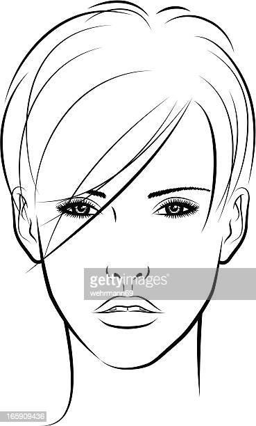 Frau mit kurzen Haaren 06