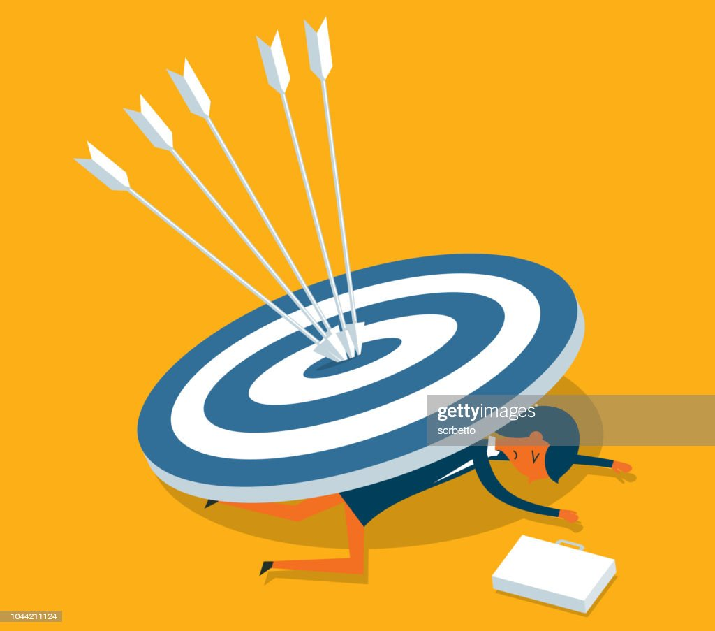 Woman with target : stock illustration