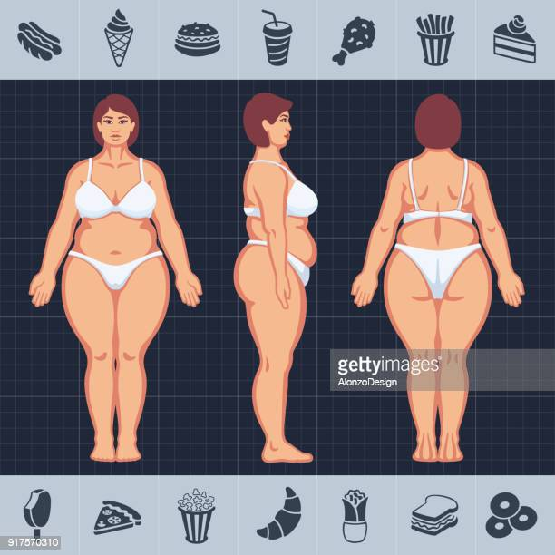 woman with unhealthy lifestyle - unhealthy living stock illustrations, clip art, cartoons, & icons