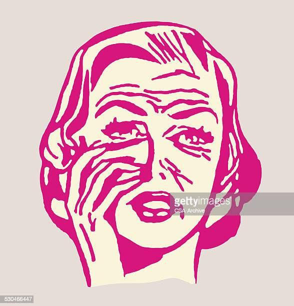 woman with wrinkles - crag stock illustrations, clip art, cartoons, & icons