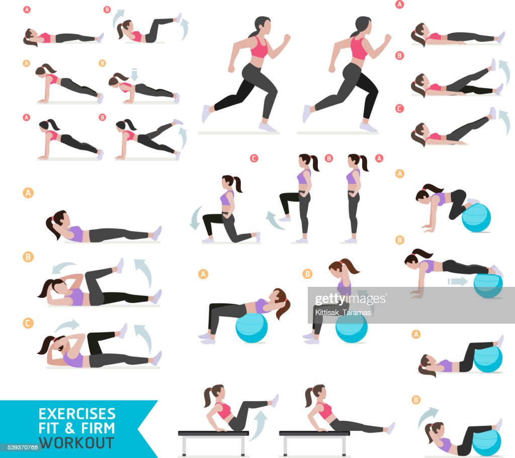 Woman workout fitness, aerobic and exercises.