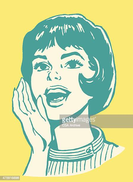 woman yelling - crying stock illustrations, clip art, cartoons, & icons