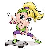Woman's aerobic exercises