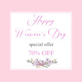 Womans Day collection sale banners.Sale Discount 8 March Happy Women s Day poster. Eighth March gift card. Spring Holiday Sale. Futuristic, promotion design. Advertising, Marketing, greeting cards, gifts etc