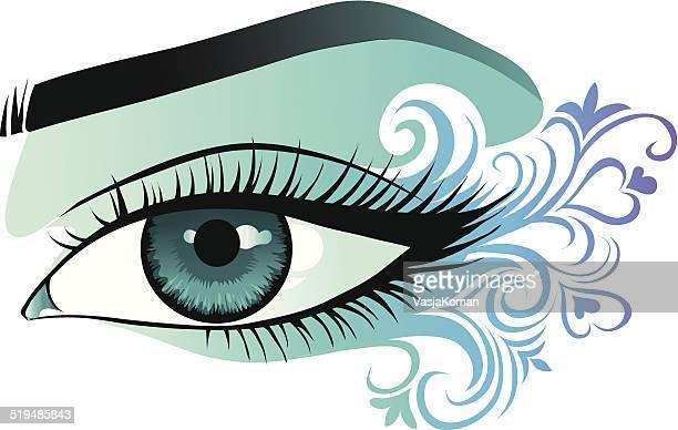 woman's eye close up