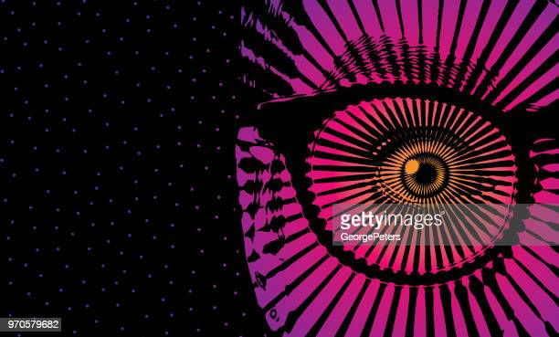 Woman's eye with shocked expression