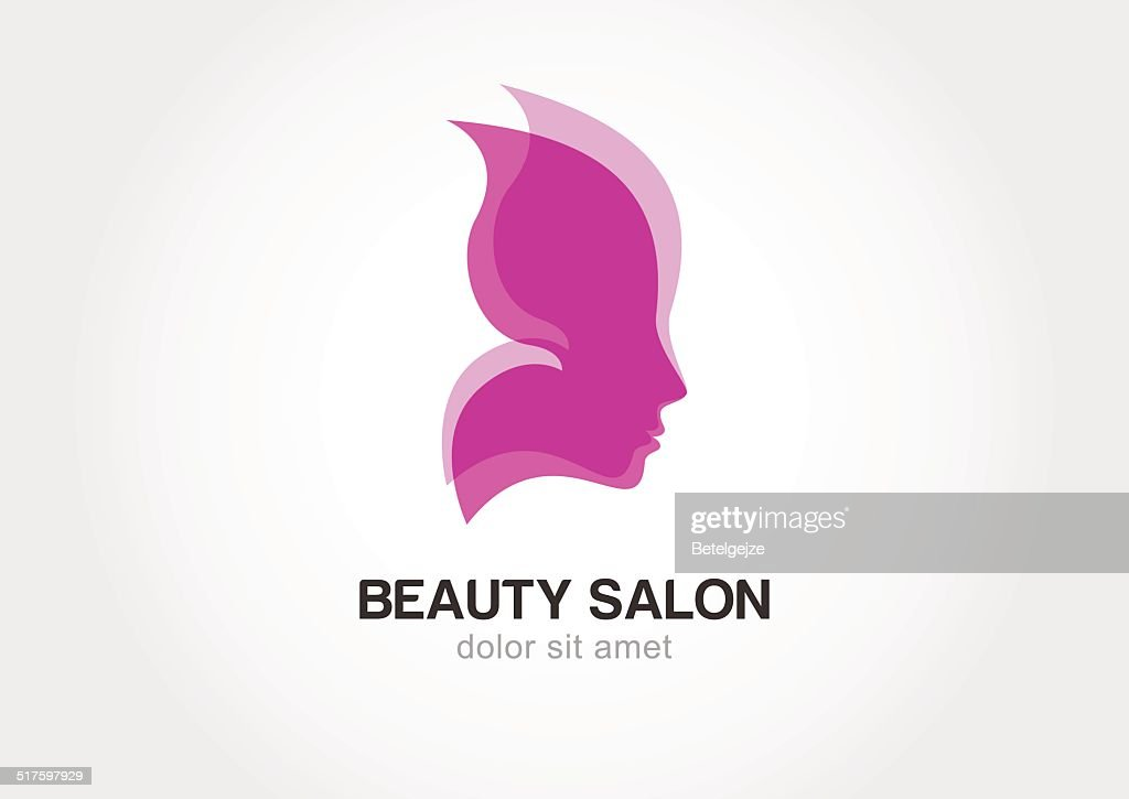 Woman's face in butterfly wings.  concept for beauty salon.
