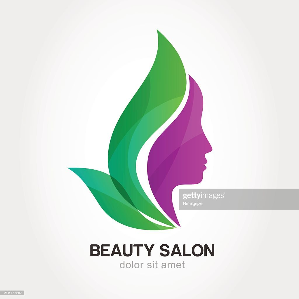 Woman's face in flower leaves. Concept for beauty salon, spa.