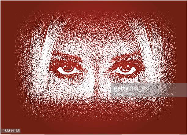 woman's face in shadows - mystery stock illustrations, clip art, cartoons, & icons