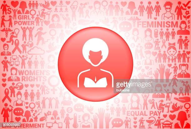 Woman's Face Portrait Girl Power Women's Rights Background