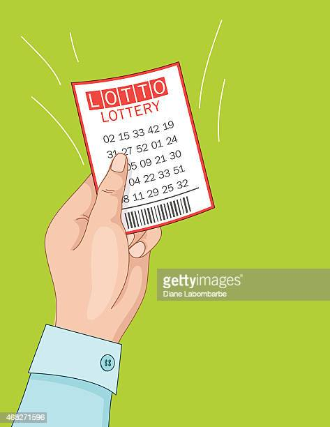 womans hand holding a winning lottery ticket. - ticket stock illustrations, clip art, cartoons, & icons