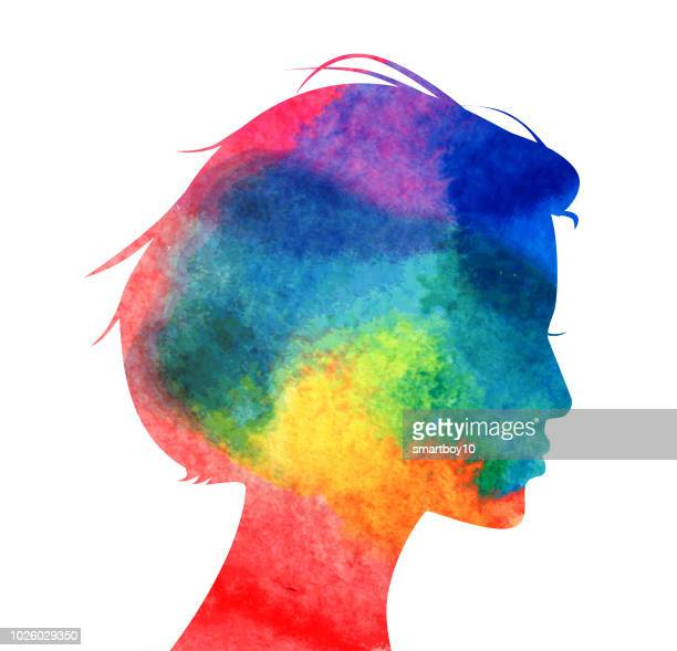 womans head profile - contemplation stock illustrations, clip art, cartoons, & icons