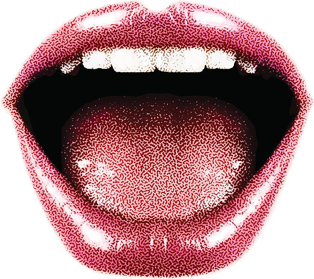 woman's laughing mouth and lips - lips stock illustrations