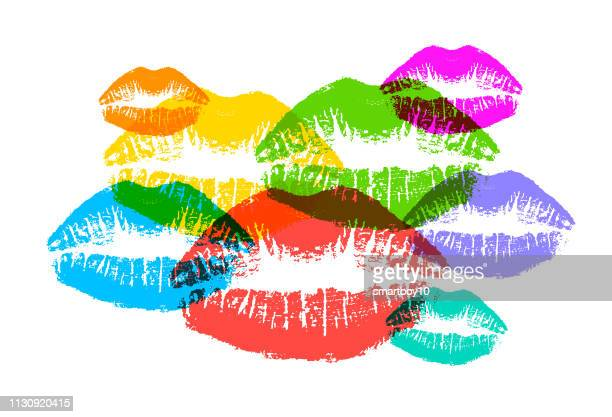 womans lips - human body part stock illustrations, clip art, cartoons, & icons