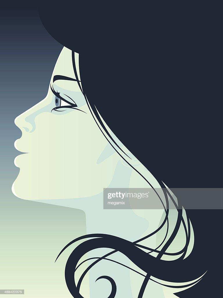 Woman's profile.