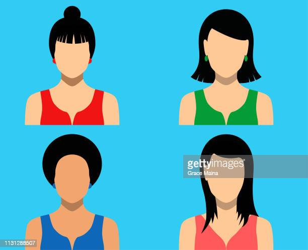 Women Blank Faces Icons