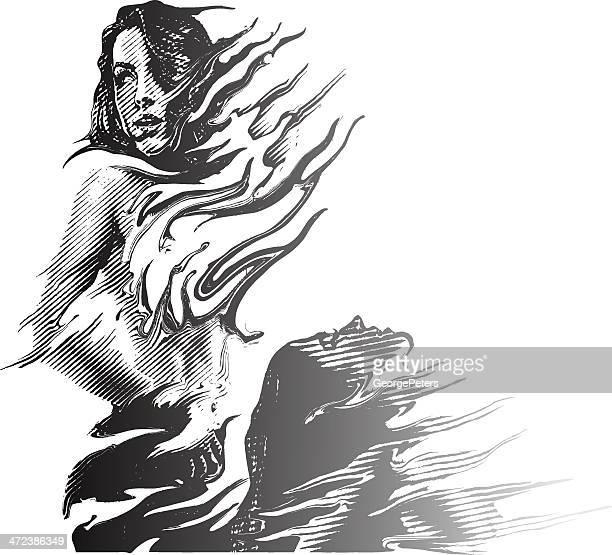 ilustrações de stock, clip art, desenhos animados e ícones de mulheres impressionado - mulher fatal